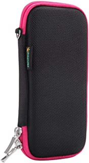 iDream365 Hard Protective EVA Carrying Case/Bag/Pouch/Holder for Executive Fountain Pen,Ballpoint Pen,Stylus Touch Pen-Black/Pink
