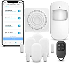WiFi Security System WiFi Alarm System Kit Compatible with Alexa,APP Control and Message Alert Function,1 PIR Motion Senso...