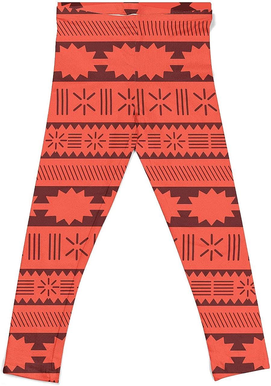 Rainbow Rules Girls' Leggings - Moana Tribal Print