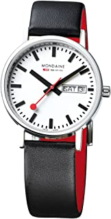 mondaine classic day date automatic watch
