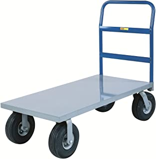 Little Giant NBB-3048-10P Steel Deck Cushion-Load Platform Truck with 10