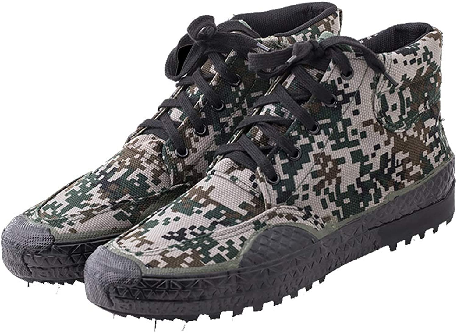 TEEIEW High-top labor insurance rubber shoes military shoes wear-resistant labor shoes (Size   38)