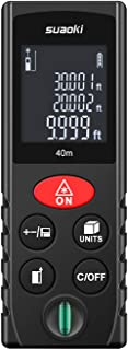 SUAOKI Laser Measure 131Ft with Multi Function Laser Measuring Device with Bubble Level, Pythagorean Mode, Area and Volume Calculation - Battery Included131Ft