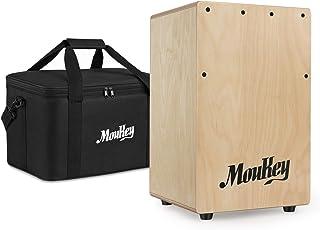Moukey Portable Cajon DCD-1K Wooden Small Mini Cajon Drum Box with Bag, Birchwood Percussion String