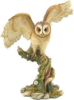 Veronese Design Owl Spreading His Wings Bird Sculpture