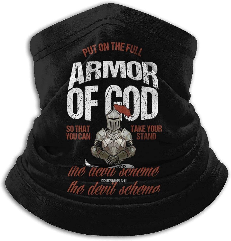 Put On The Full Armor of God Christian Unisex Microfiber Face Mask Outdoors Warmer Windproof Dust Proof Neck Gaiter Balaclava Black