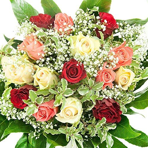Bunter Geburtstag Blumenstrauß - Bumo - Inkl. gratis Grußkarte!