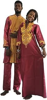 Dashiki African Couple Clothing,Traditional Bazin Women Maxi Wedding Dress & Man Shirts