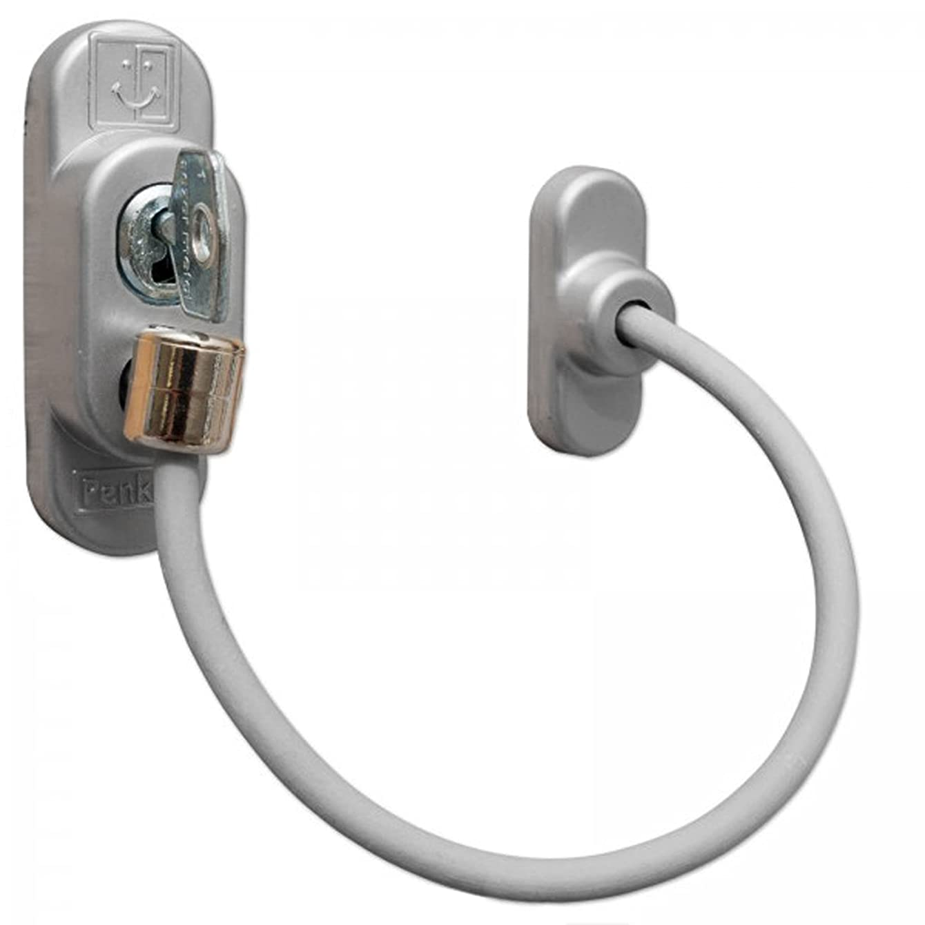 ComfoRED- Child Safety Home Security Window Door Restrictors Lockable Cable (Grey)