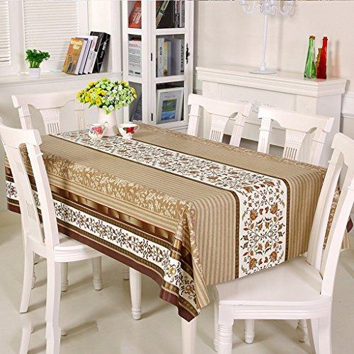 ZWL Nappe PVC composite Rectangle Table Tissu Tissu à café étanche Etanche à l'huile , Ajoutez de la vitalité à la cuisine ( Couleur : A , taille : 138*190cm )