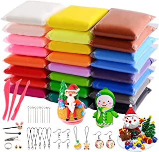 VANKERTER 24 Bright Colors Air Dry Clay Kit Ultra Light Clay Magic Modeling Clay with Accessories, Tools for Kids Adults DIY Crafts Gift