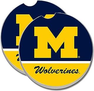 University of Michigan Wolverines Car Coasters - Sandstone Car Drink Coaster (set of 2 coasters)
