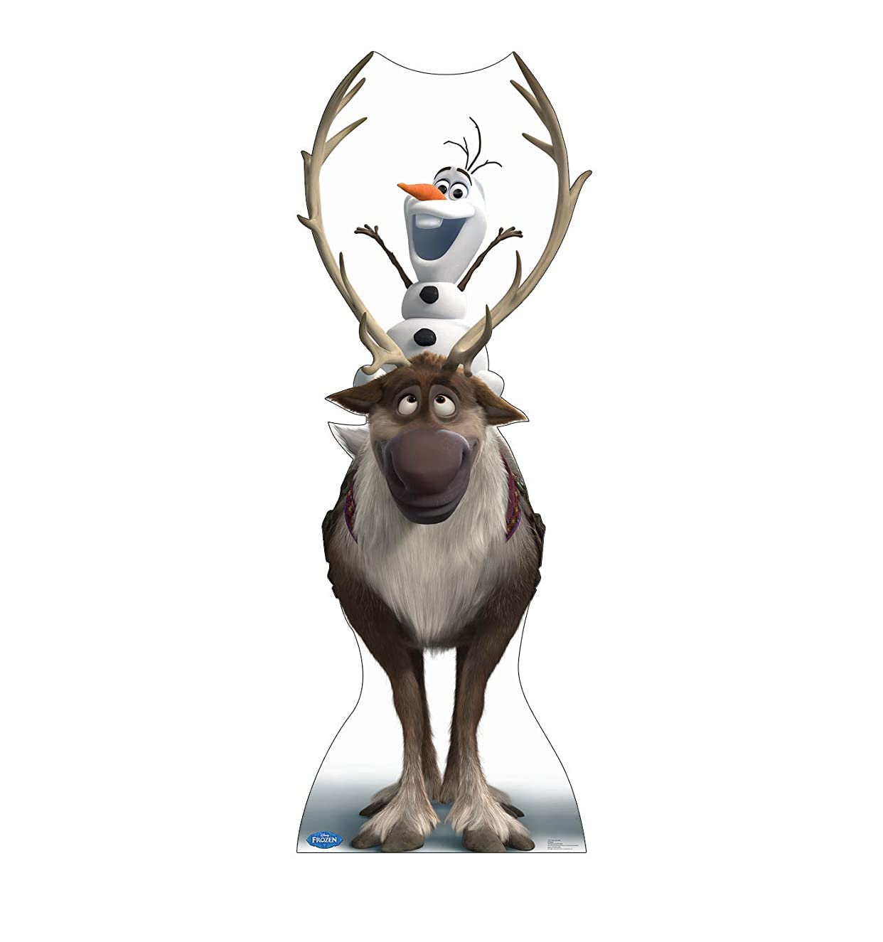 Advanced Graphics Sven & Olaf Life Size Cardboard Cutout Standup - Disney's Frozen (2013 Film)