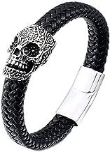 Gungneer Stainless Steel Punk Gothic Skull Bracelet Bangle Jewelry Accessories Men Women