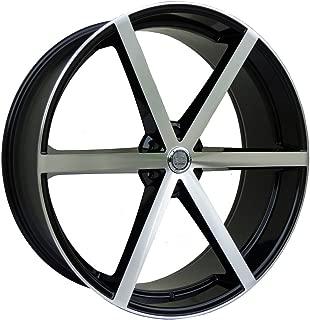 Includes Free Wheel Club LA T-Shirt Set of 4 Fits Chevy Ford GMC Cadillac Dodge Toyota Lincoln Trucks 24 Inch U2 U2-55 Gloss Black Wheels Rims Only