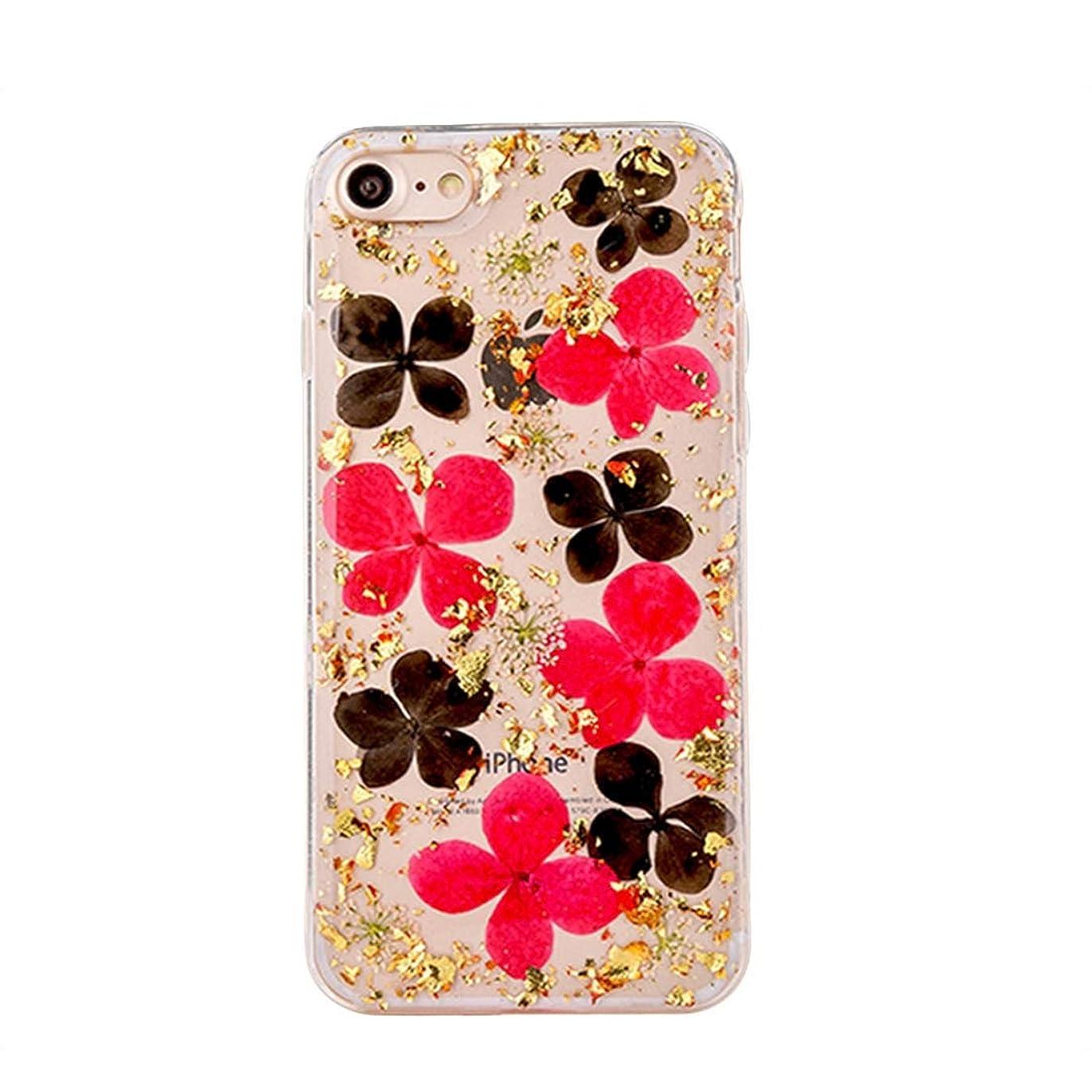 抵抗力がある鰐選択するYMF iPhone 8&7 Glitter Flower Gold Foilのための超スリムプロテクトバックカバーケース (Color : Color1)