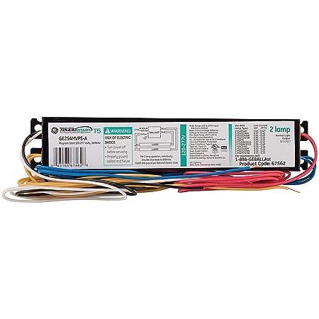 GE GE254MVPS-A UltraStart? T5 Watt-Miser 2-Lamp 54W T5HO Ballast 67562 - Electrical  Ballasts - Amazon.com   Ge T5 4 Lamp Ballast Wiring Diagram      Amazon
