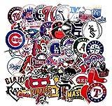 ZJJHX Equipo de béisbol Personalidad Profesional Estadounidense Pegatinas Impermeables Trolley Case Patineta Graffiti Motocicleta Pegatinas para Autos eléctricos 53 Hojas