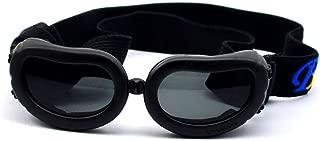 [WOLLO]小型犬用(ミニ)サングラス ゴーグル mini Dog用 UVカット 紫外線 対策 めがね ペット用 ドッグ お出かけ 用 かわいい メガネ 長さ 調整 ストラップ 付き
