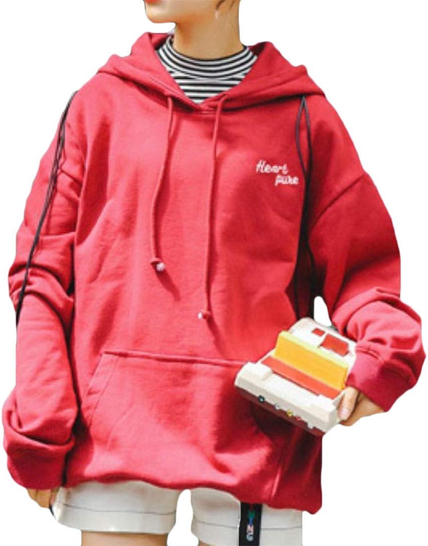 Vgvgh Women's Oversize Letter Vogue Autumn Winter Printed Hoodies Long Sleeve Sweatshirts