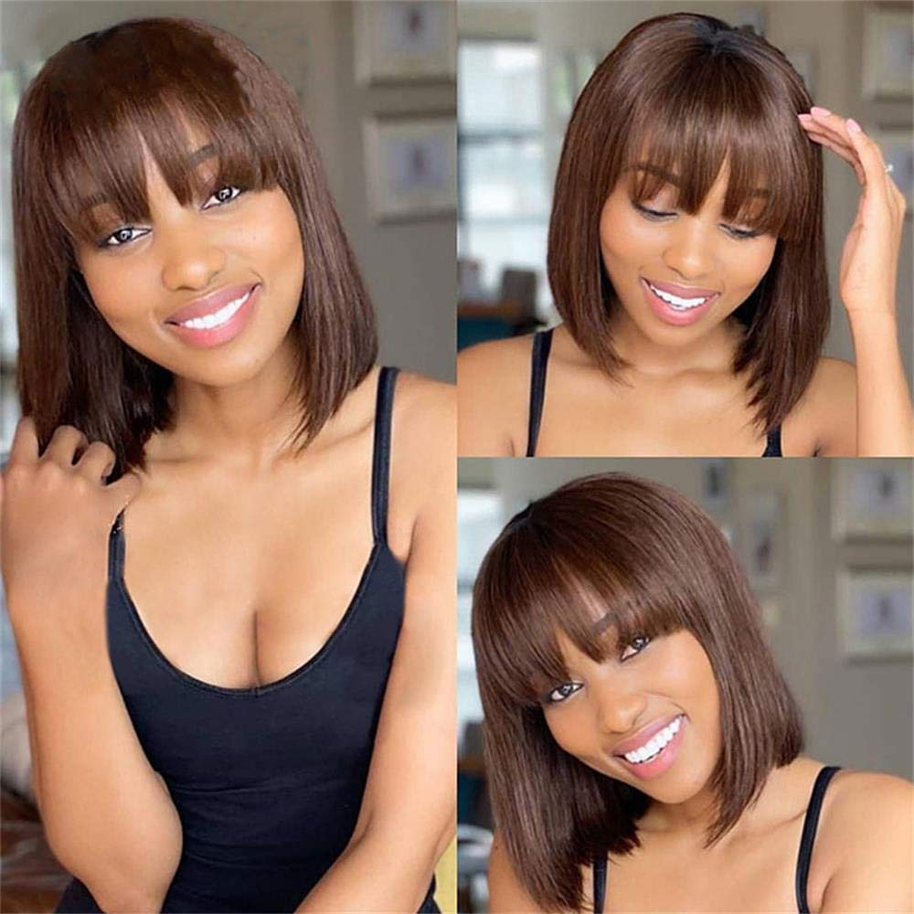 Brennas Hair Omaha Mall Brown Glueless Complete Free Shipping Non Front Lace Human Wigs