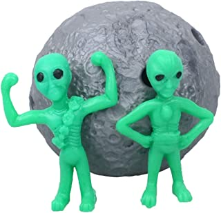 WEY&FLY Moon and Aliens Toy Hide and Seek Stress Relief Toy Latex Toy Safety Certification(Moon)