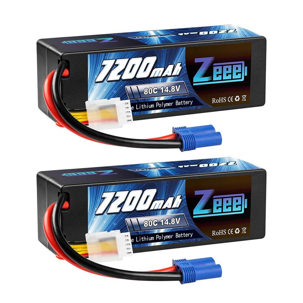 2 Baterias LIPO 14.8v 7200mah 80C 4S Ec5 Plug Zeee