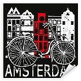 Postereck 2275 - Poster & Leinwand - Quadrat, Amsterdam