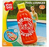 Red Hot Sauce Pool Float Lounger 72 x 27 x 7
