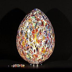 Lámpara de mesa Murano Zefiro – Murrine multicolor – 63 cm de altura y 41 cm de diámetro | Lámpara de mesa de Murano Zefiro – Murrine multicolor – Altura 63 cm de diámetro 41 cm