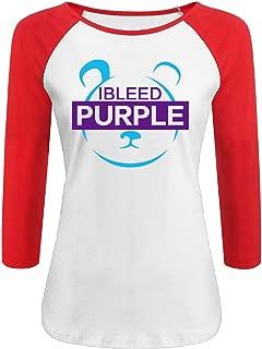 L.A. Metta World Peace Panda I BLEED PURPLE Woman 3/4 Sleeve Raglan Crew-Neck T-shirt