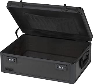 Vaultz Locking Storage Chest, 6.5 x 19 x 13.5 Inches, Black on Black (VZ00458)
