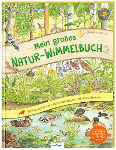 Mein großes Natur-Wimmelbuch: Mit Panorama-Ausklappseite und vielen Stickern