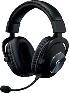 Logitech G PRO Gaming Headset 2nd Generation Comfortable and Durable with PRO-G 50 mm Audio Drivers, Aluminum, Steel and M...
