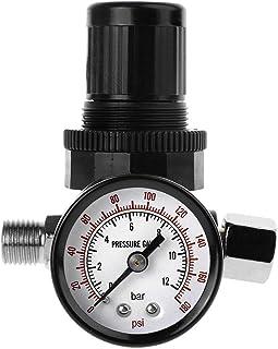 """HELYZQ Válvula de pressão de ar redutor de pressão de 1/4"""" 12Bar 180 PSI medidor de pressão de pistola de pulverização"""