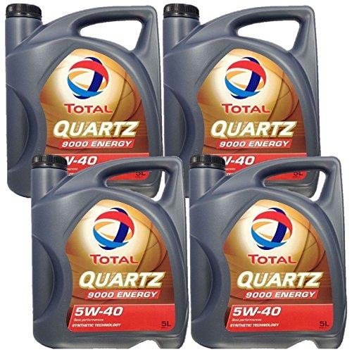 4x 5 liter (20L) Total Quartz 9000 Energy 5W-40 motorolie 5W40