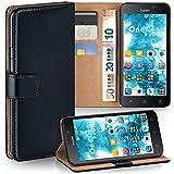 MoEx Premium Book-Hülle Handytasche passend für Huawei G Play Mini | Handyhülle mit Kartenfach & Ständer - 360 Grad Schutz Handy Tasche, Schwarz