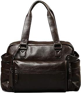 LaoZan Podróżna torba typu tote na co dzień wielofunkcyjna na ramię skóra PU duża pojemność torebka fitness torba kuriersk...