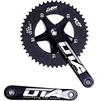 Nuova alta qualit/à Track Fixed Gear Road bike guarnitura 46T 170/mm nero