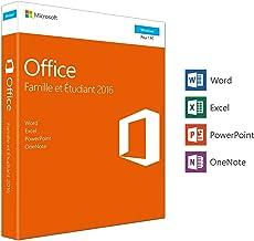 Office Famille et Etudiant 2016 – 1 PC – Box – Word Excel PowerPoint et..
