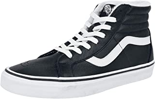 Women's Sk8 Hi Reissue Leather Lace Up Trainer Black/White