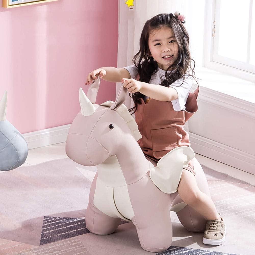 YUMUO Forme Animale Canapé Pouf Chaussure Tabouret Pouf Chaise Enfant Jouets Repose-Pieds Tabourets en Bois Massif pour la Maison F1227 (Couleur: Rose) 1