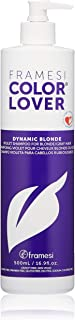 Framesi Color Lover Dynamic Blonde Violet Shampoo - 16.9 Ounce, Purple Shampoo, Blonde Hair Shampoo, Powerful Toning Shampoo, Vegan, Gluten Free, Cruelty Free