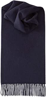 Royal Speyside Unisex Lambswool Plain Scarf - Navy