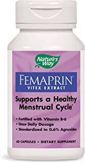 Nature's Way Femaprin Vitex Supports Healthy Menstrual Cycle, Once Daily, 60 Count