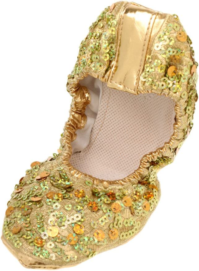 dailymall PU Leather Belly Dance Shoes Wear-Resistant Yoga Shoes for Adult Children