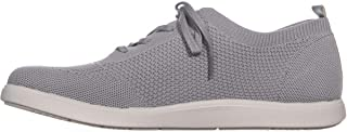 B.O.C Womens Amira Fabric Low Top Lace Up Fashion Sneakers, Grey, Size 6.5 US