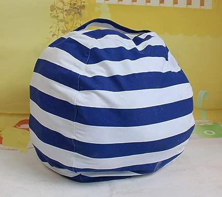 OOFAYWFD Canvas Stuffed Animal Storage Bean Bag Chair Kids Plush Toy Clothes Quilts Organizer 6 Big