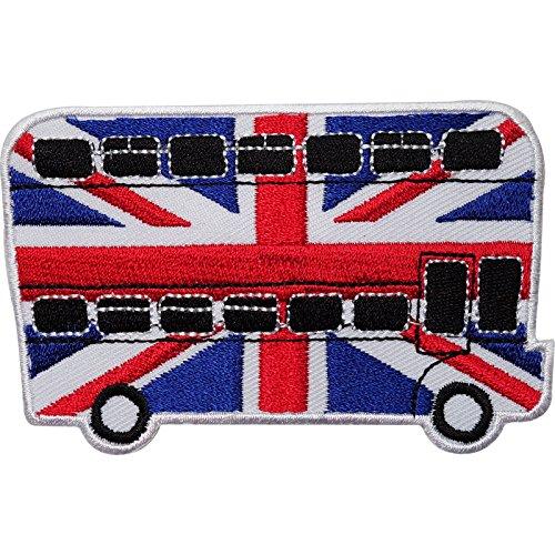 Autobús Londres Reino Unido Bandera bordado hierro/para