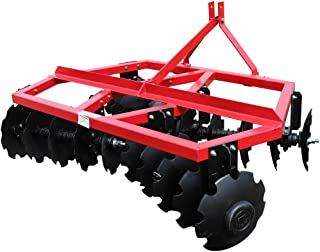 Titan Distributors Inc. Category 1 3 Point Notched Disc Harrow Plow for Kubota New Holland Tractors | 6 Feet